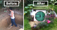 How To Build A Hobbit House In Your Backyard | Bored Panda