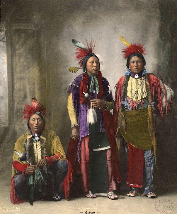 """""""En verano"""".  Kiowa.  1898. foto Por Fa Rinehart"""