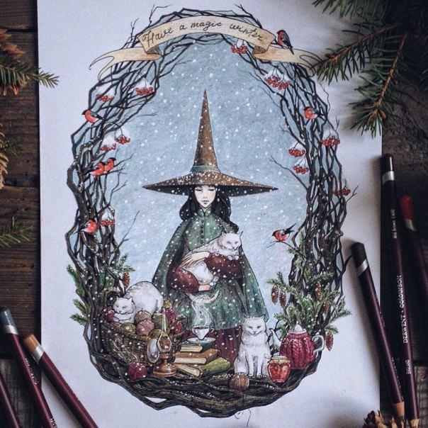 cuento de hadas-ilustraciones a todo color lápiz-lia-selina-24