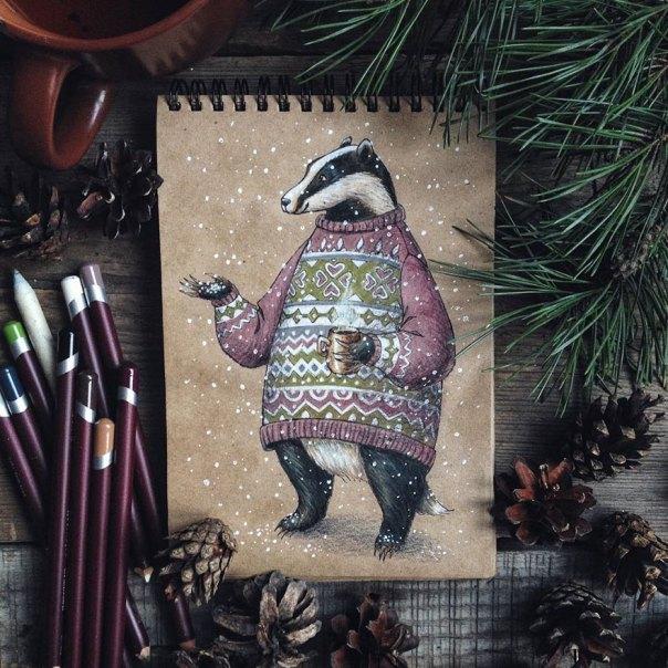 cuento de hadas-ilustraciones a todo color lápiz-lia-selina-25