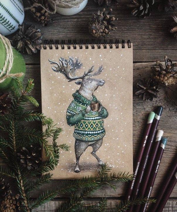 cuento de hadas-ilustraciones a todo color lápiz-lia-selina-27
