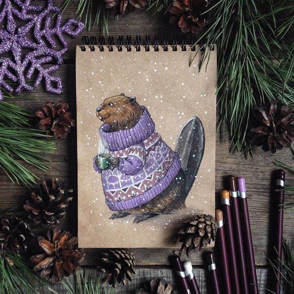 cuento de hadas-ilustraciones a todo color lápiz-lia-selina-29