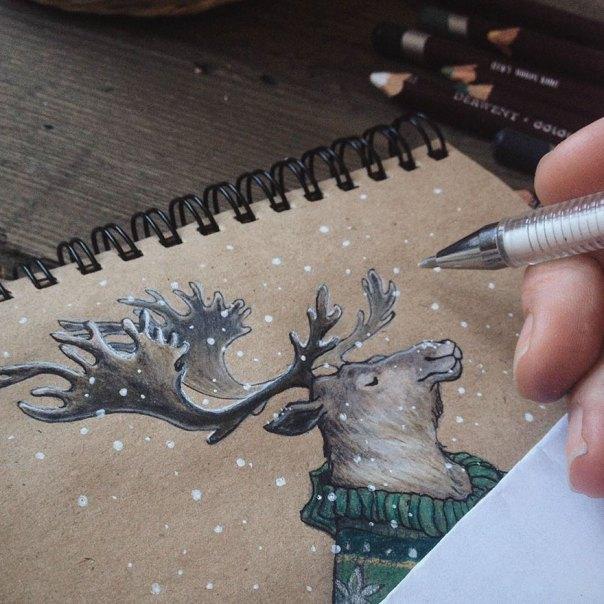 cuento de hadas-ilustraciones a todo color lápiz-lia-selina-32