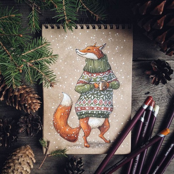 cuento de hadas-ilustraciones a todo color lápiz-lia-selina-36