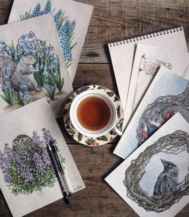 cuento de hadas-ilustraciones a todo color lápiz-lia-selina-4