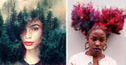 afros turned flowery galaxies
