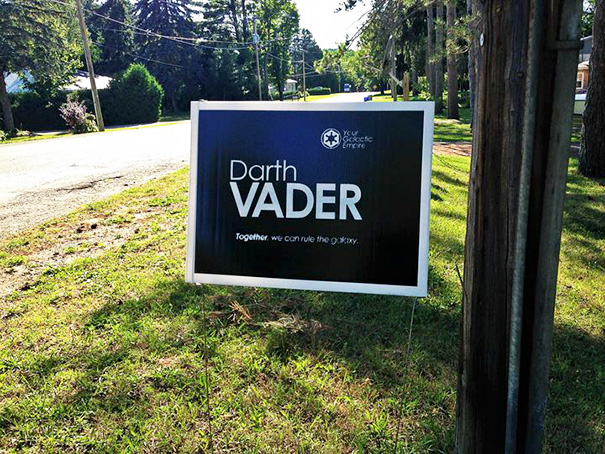 Political Yard Sign
