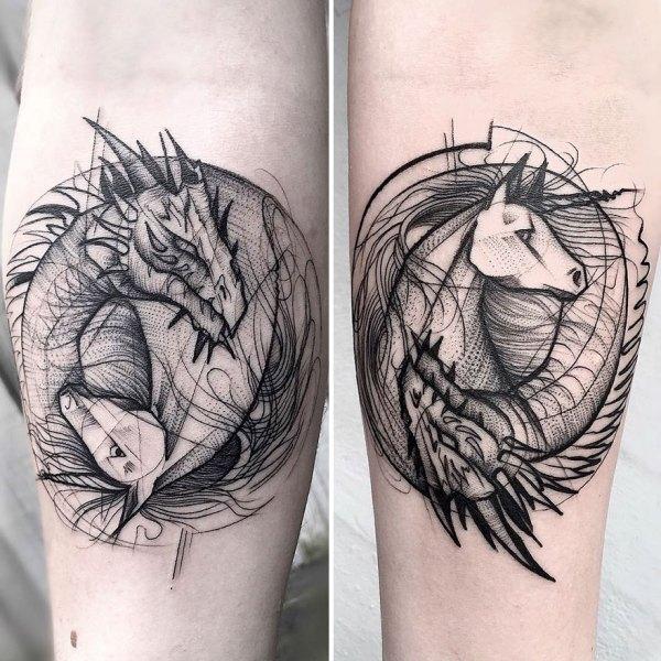 Sketch Tattoos Frank Carrilho Show Beauty Of