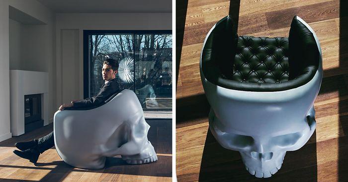 skull chair safari high decorations armchair to satisfy your inner villain bored panda