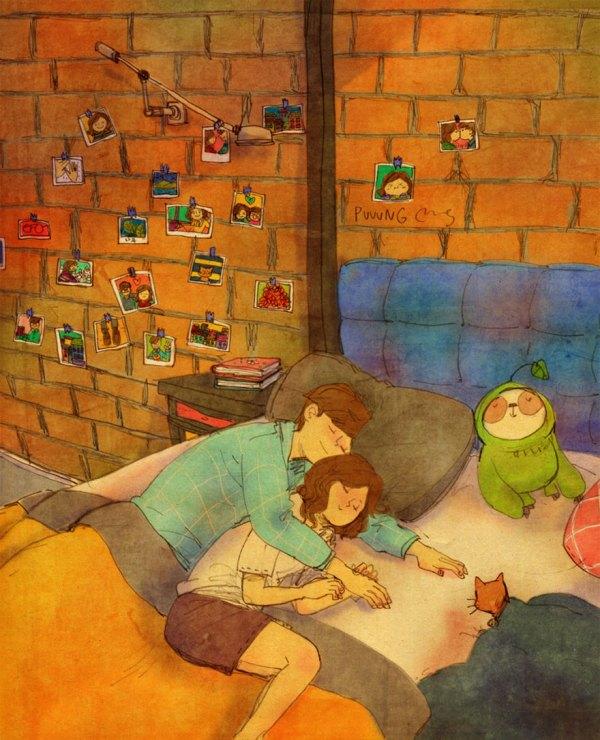 Love In Small Illustrations Korean