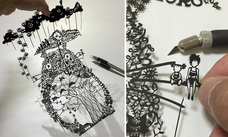 Incredible Paper Cuts By Mr Riu Art People Gallery