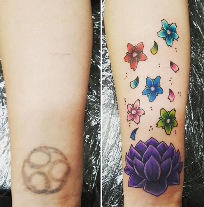 Lotus Flower Tattoo Wrist Cover Up Classycloud Co
