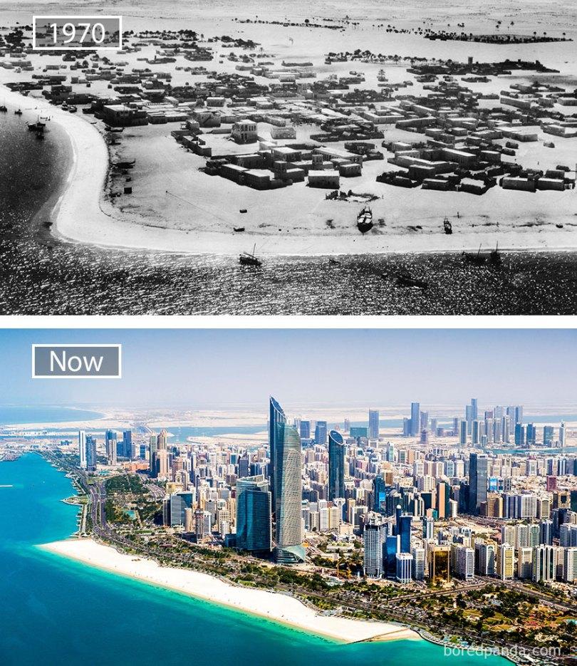 Abu Dhabi, Emirados Árabes Unidos - 1970 e agora