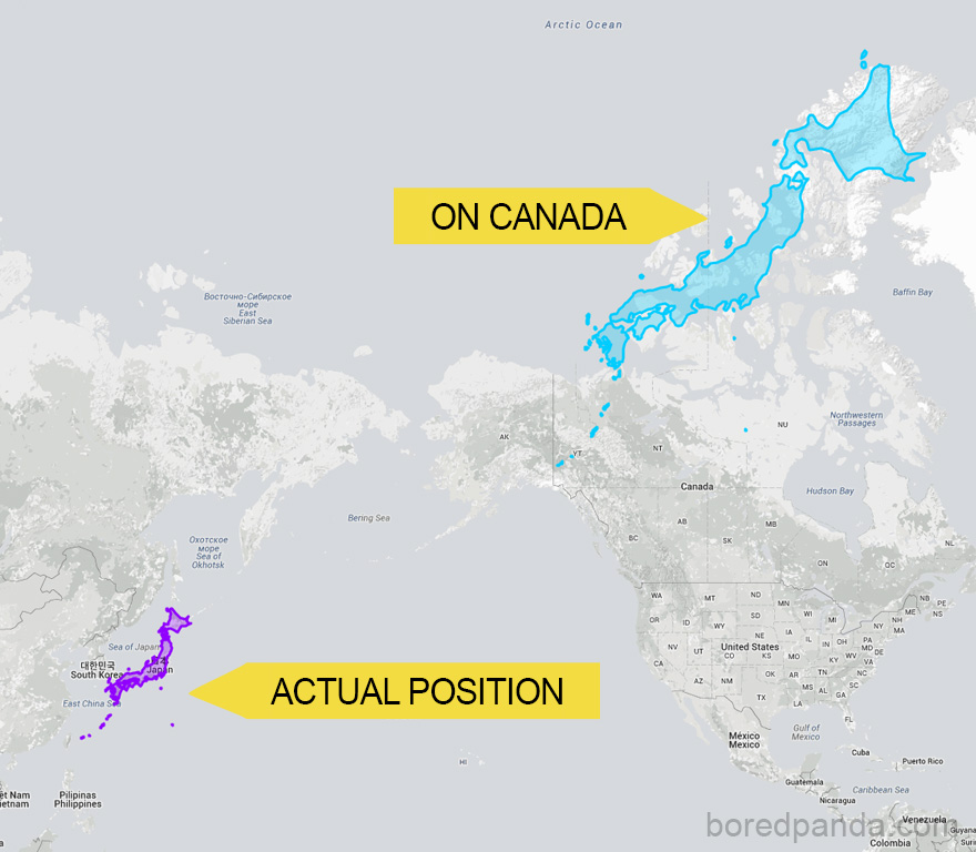 Japan Can Stretch Almost Across Canada