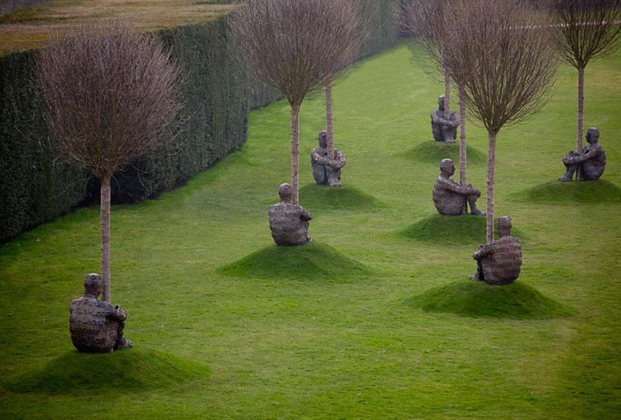 Jaume Plensa Sculptures, Yorkshire Sculpture Park