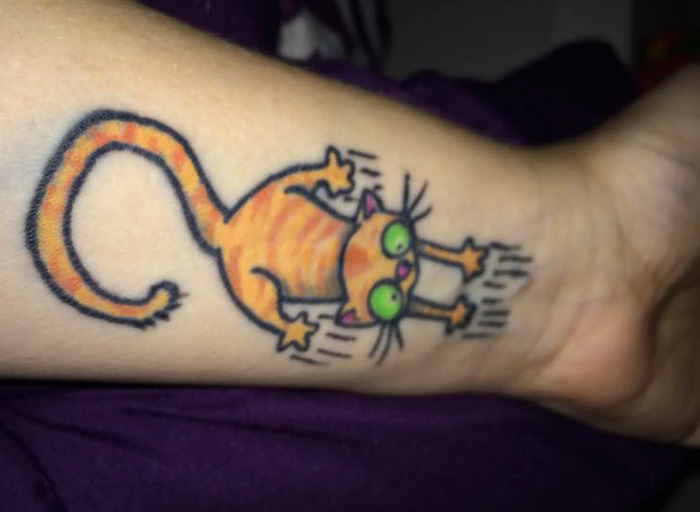 Cat Scratch Tattoo Covering The Scar