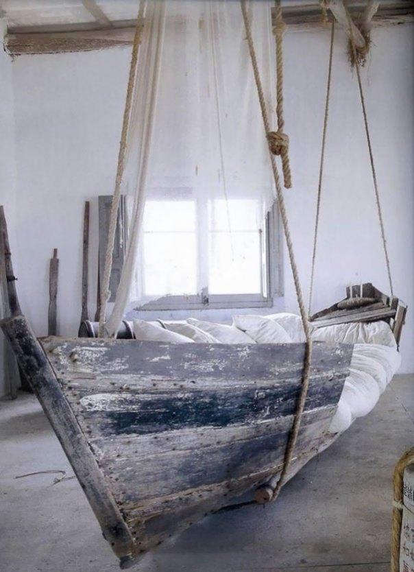 Usted puede convertir un viejo barco en una cama