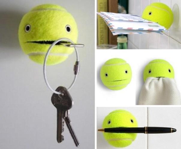 Puede utilizar una pelota de tenis como titular de artículos