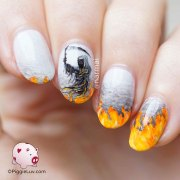 creepy halloween nail art ideas