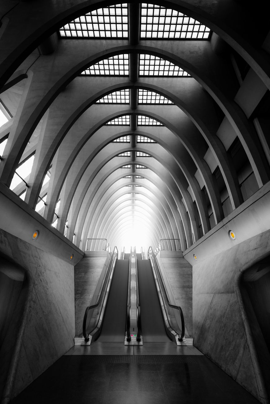 Train Station Liège-Guillemins In Belgium