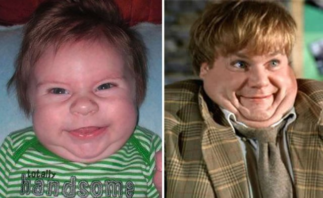 Grady Looks like Chris Farley