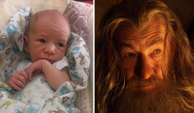 So my friend's baby looks like Gandalf