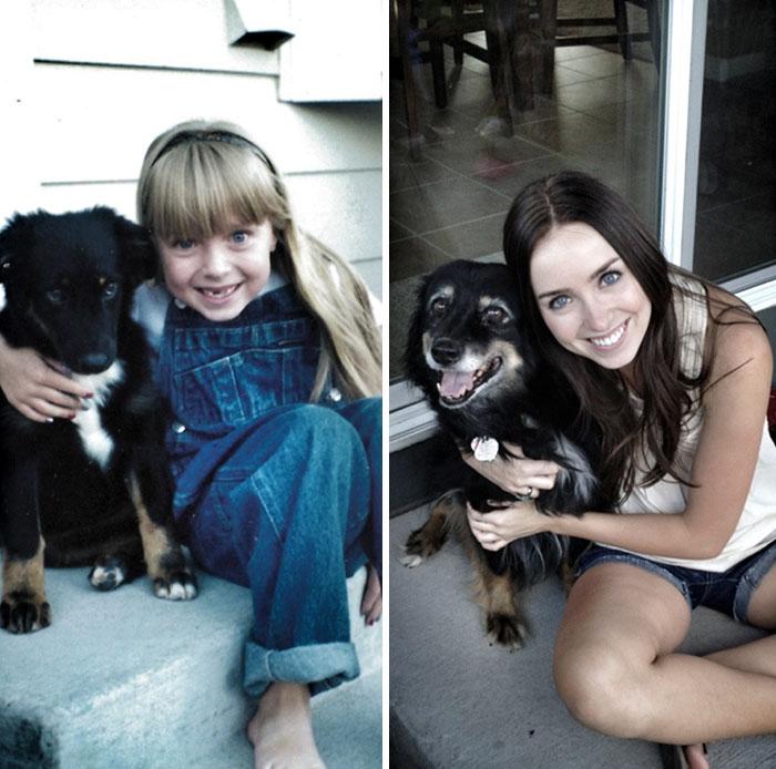 My dog and I, 1998 and 2012