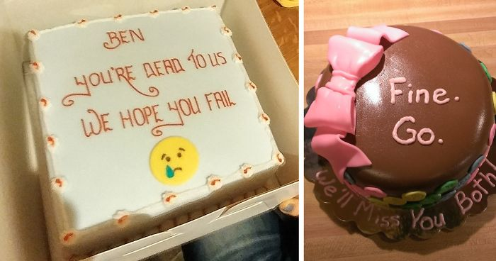 64 Hilarious Farewell Cakes That Employees Got On Their Last Day At