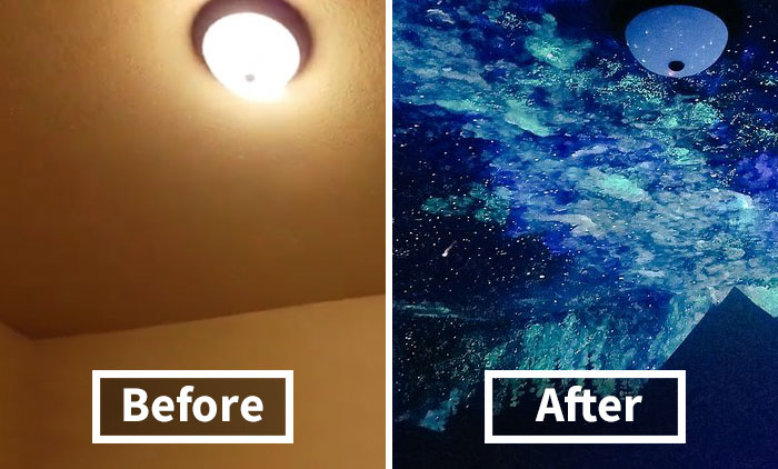 Woman Creates GlowInTheDark Galaxy Painting For Boy Who Couldnt Fall Asleep Heres His