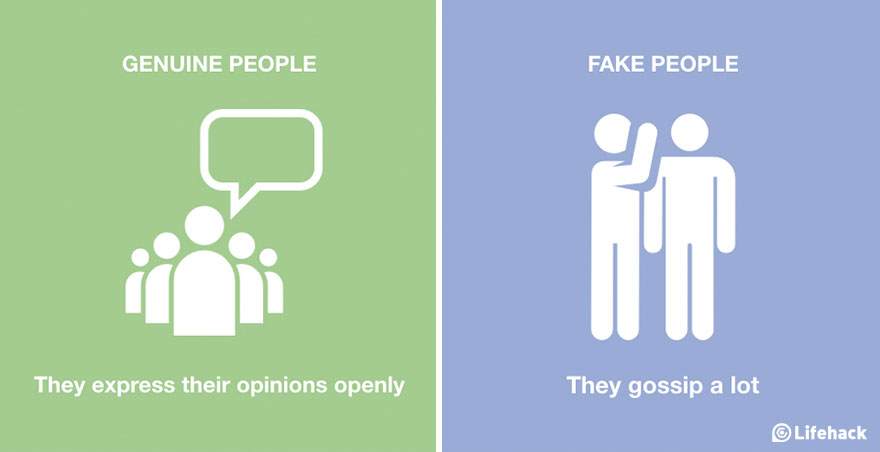 Genuine People Vs. Fake People