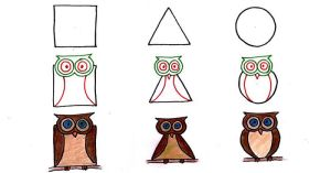 shapes animals drawing using simple geometric draw creative step person triangle square circle animal any drawings adults much paintingvalley panda