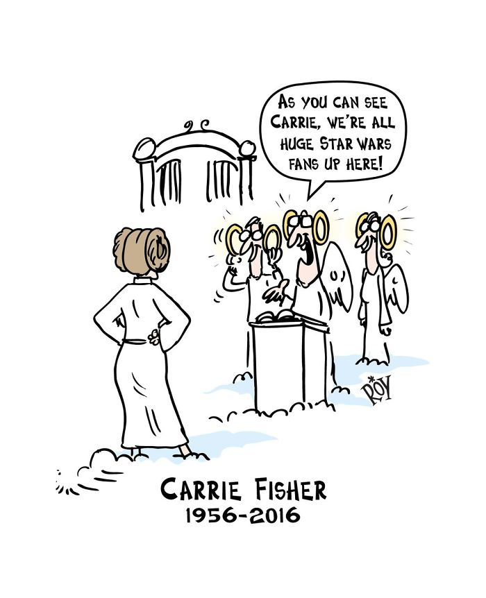 10+ Touching Tributes To Late Carrie Fisher By Artists