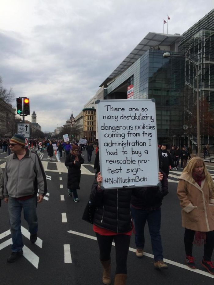 10 Of The Best Signs From Muslim Ban Protests  Bored Panda