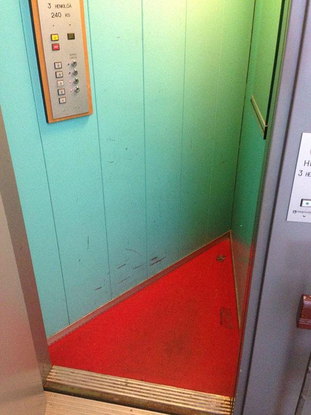 I Took A Ride In A Triangular Elevator Today