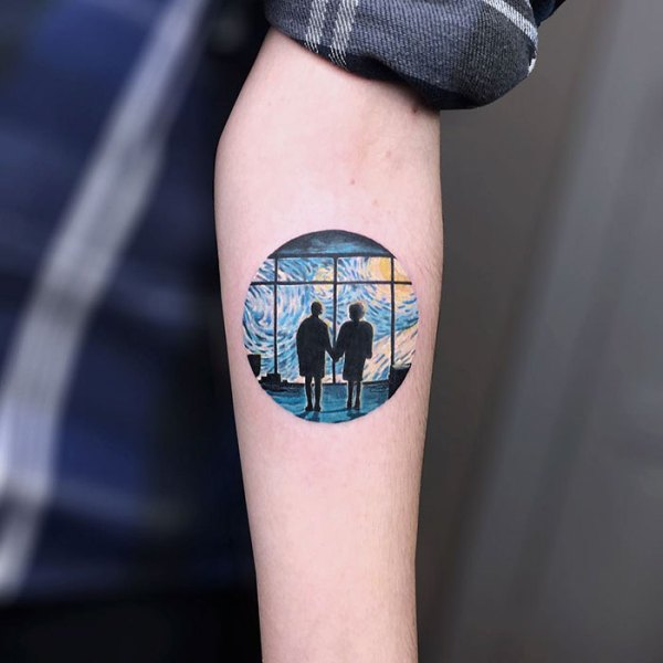 classical art-inspired tattoos