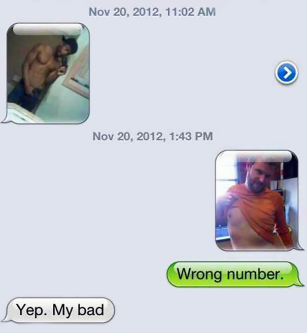 Wrong Number Text