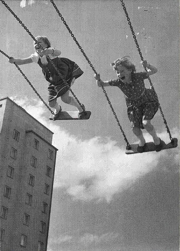Girls On Swings