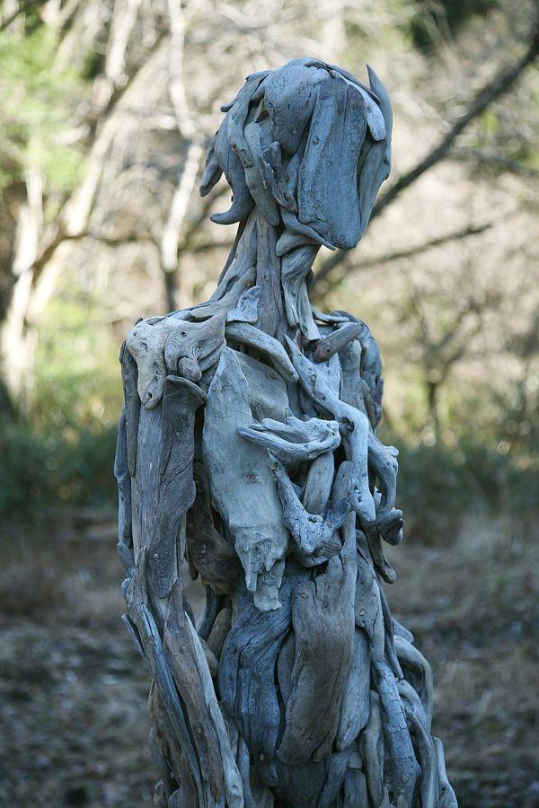 Haunting Driftwood Sculptures Japanese Artist Nagato Iwasaki Bored Panda