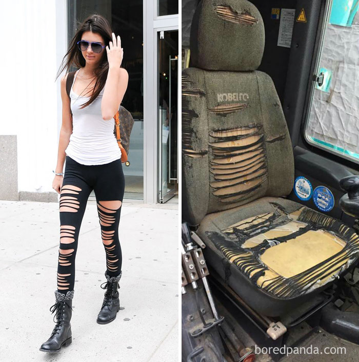 Kendall Jenner Or This Ripped Seat?