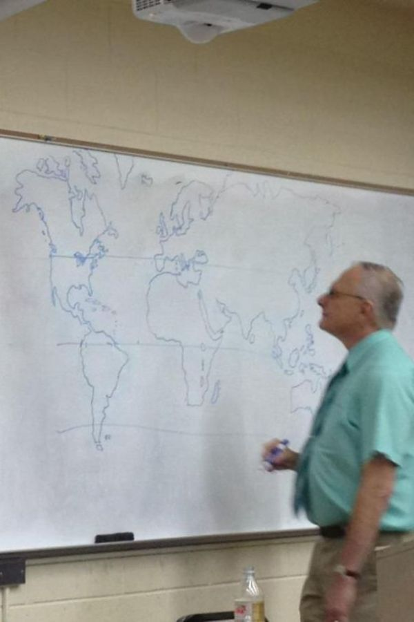The Teacher Didn't Have A Map, So He Drew One By Himself.