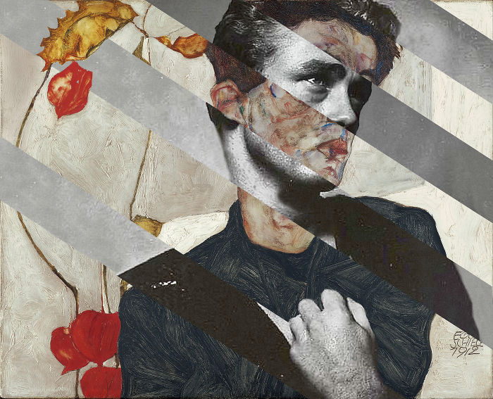 Egon Schiele's Self Portrait With Physalis And James Dean