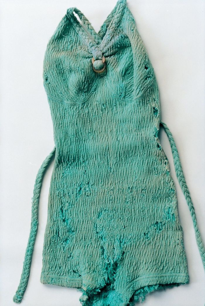 Kahlo's Knit Swimsuit In Mint Green