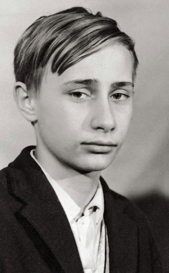 Vladimir Putin As A Young Teenager, 1966