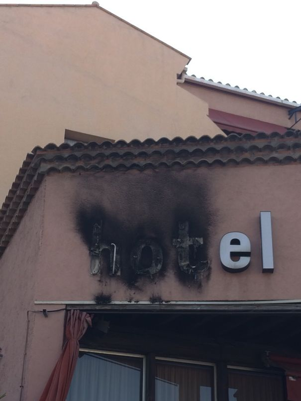 """The Word """"Hot"""" In Hotel Caught On Fire"""