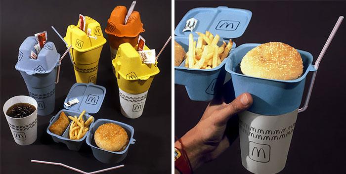 Embalagem de fast food