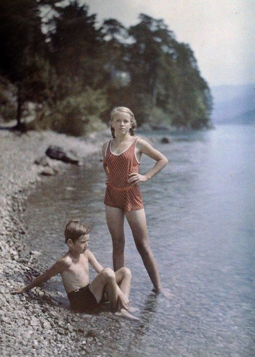 Eva And Heinz On The Shore Of Lake Lucerne, Switzerland, C. 1927
