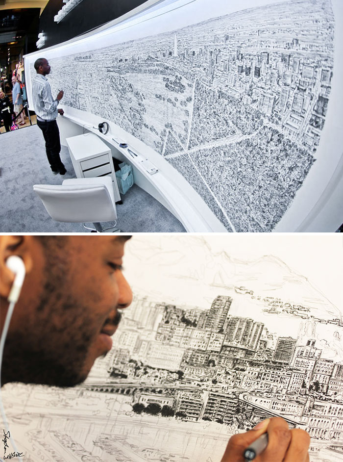 Diagnosed With Autism At Age Three, Stephen Wiltshire Is Now Famous For Producing Highly Detailed Scenes After Just A Brief Glance