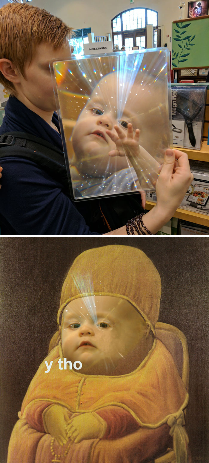 This Kid's Face In A Magnifying Plate