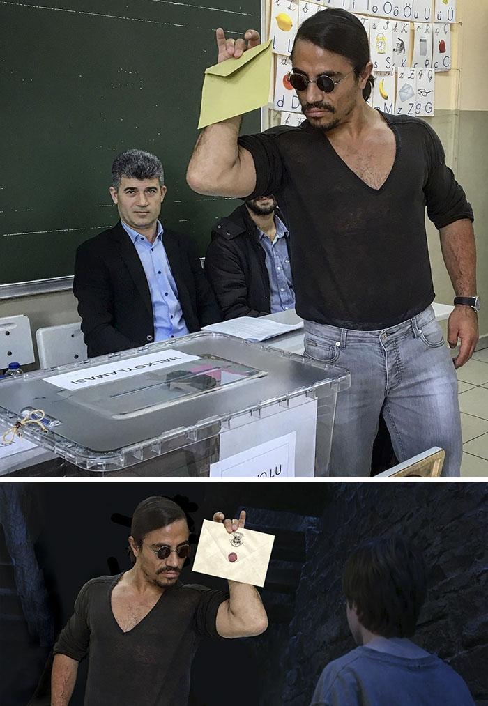 Nusret (aka Salt Bae) Voting In Today's Referendum In Turkey