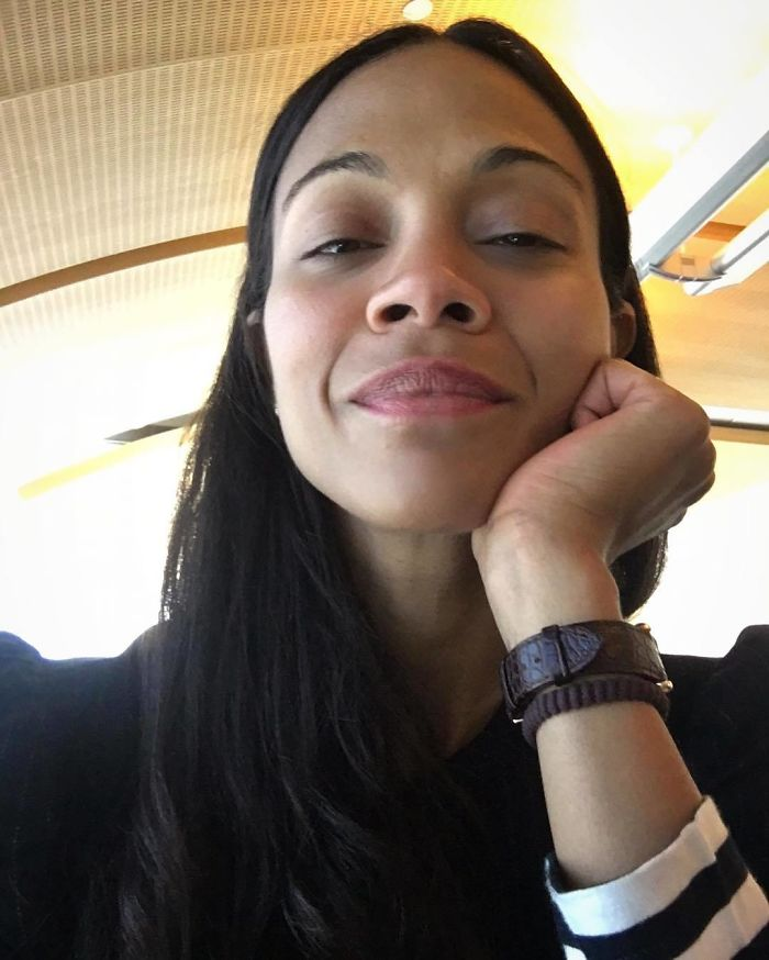Zoe Saldana sin maquillaje